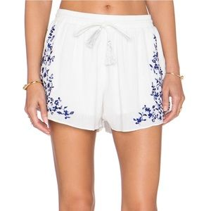 Rory Beca Nia Embroidered Shorts
